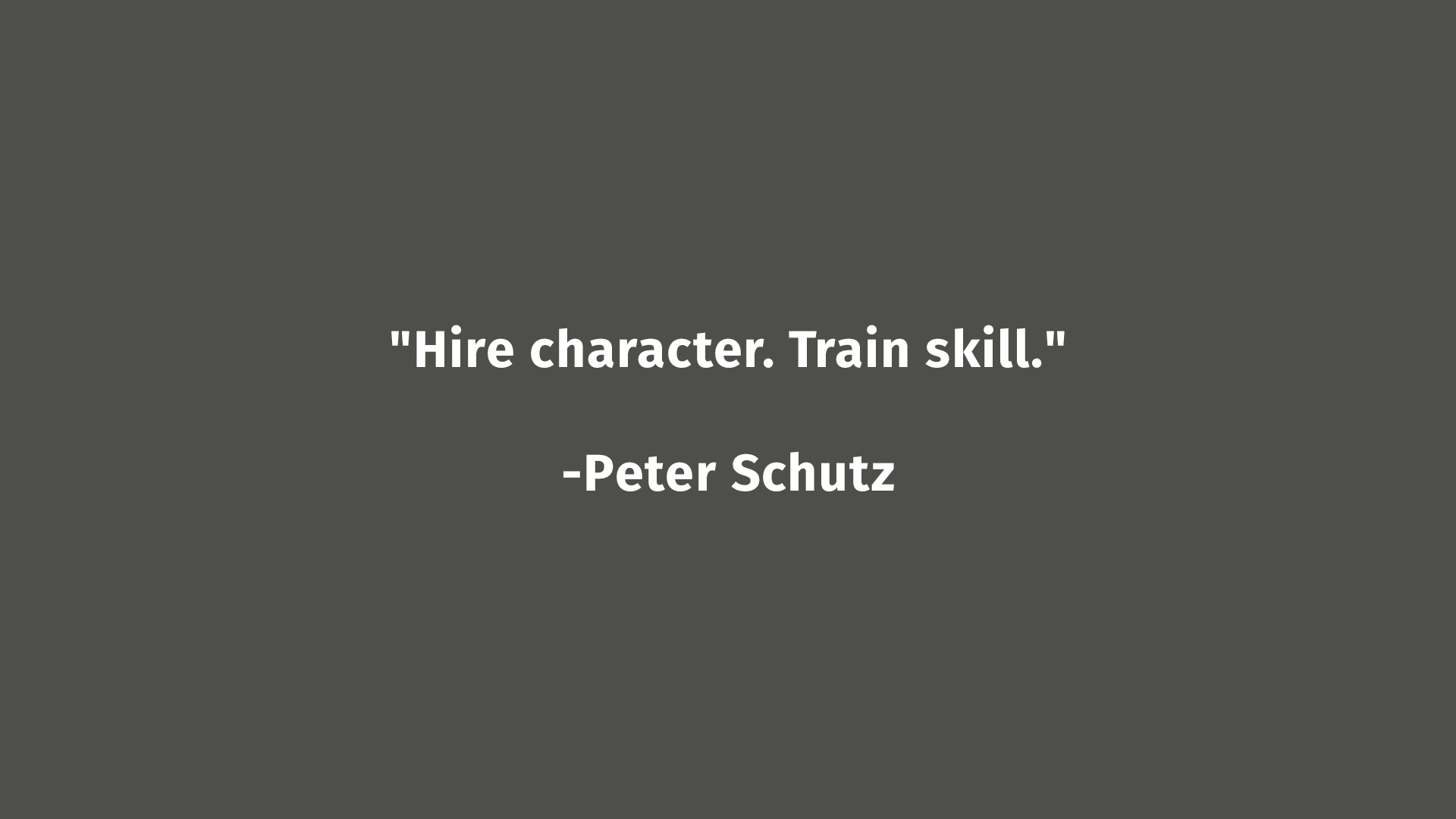 Peter Shulz Quote