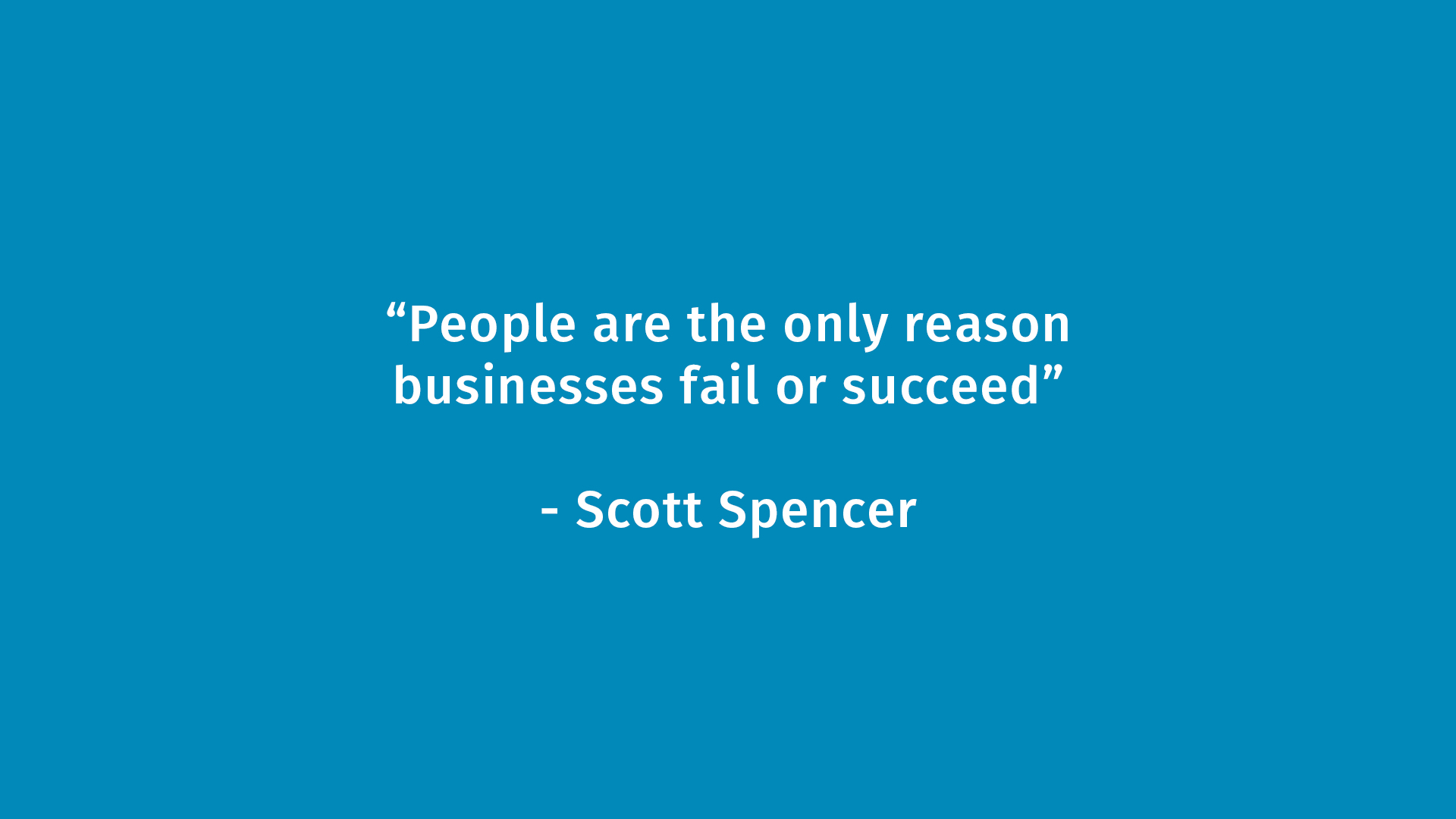 People and Business Quote